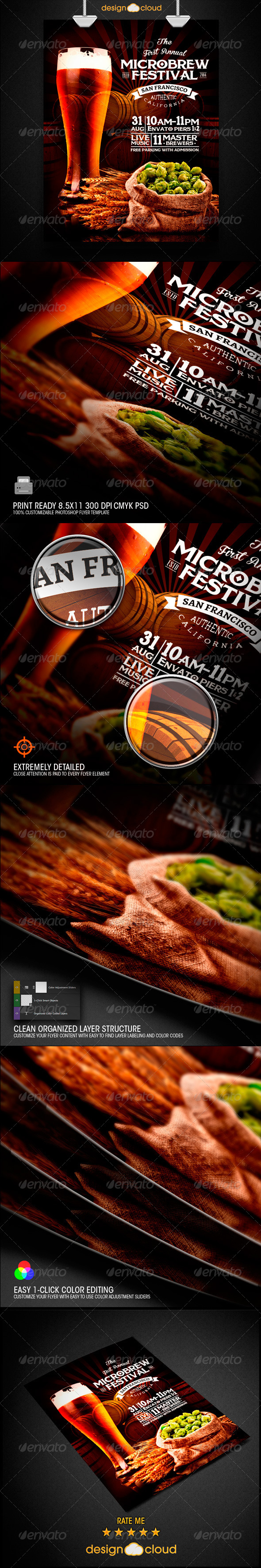 GraphicRiver Microbrew Beer Festival Poster Flyer Template 8693892