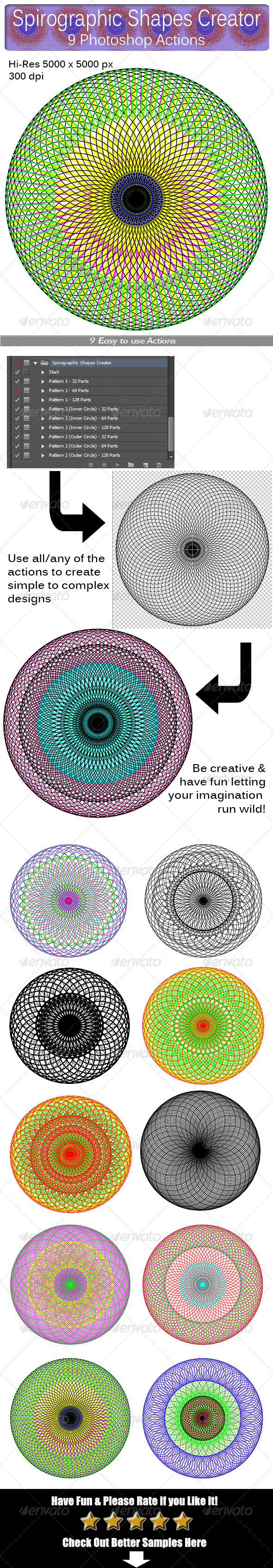 GraphicRiver Spirographic Shapes Creator 8694462