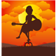 Woman Playing the Guitar - GraphicRiver Item for Sale