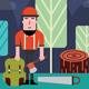 Timberman in Forest - GraphicRiver Item for Sale