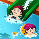 Kids Having Fun in the Swimming Pool - GraphicRiver Item for Sale