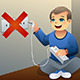 Danger of Playing with an Electrical Outlet - GraphicRiver Item for Sale