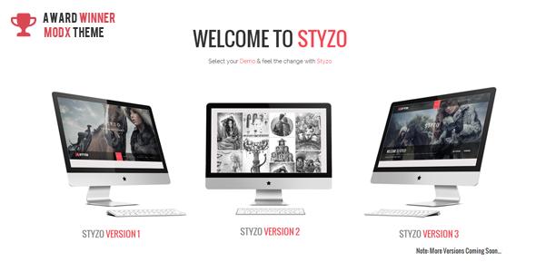 STYZO - Responsive One Page MODX Theme