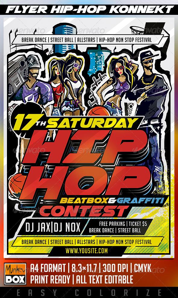 GraphicRiver Flyer Hip-Hop Konnekt 8683888
