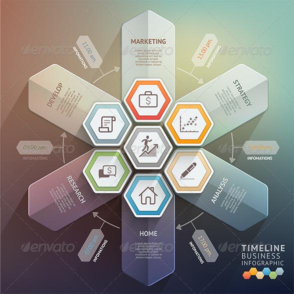 GraphicRiver Arrow Timeline Infographics Template 8695108
