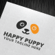 Happy Puppy Logo Template - GraphicRiver Item for Sale