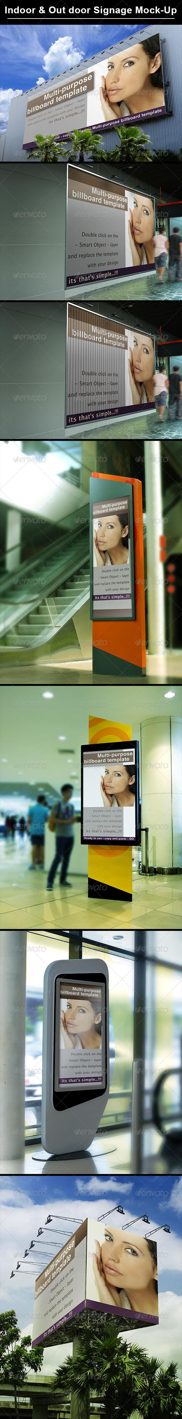 GraphicRiver Billboard & Indoor Signage Display Mock Up 8695551