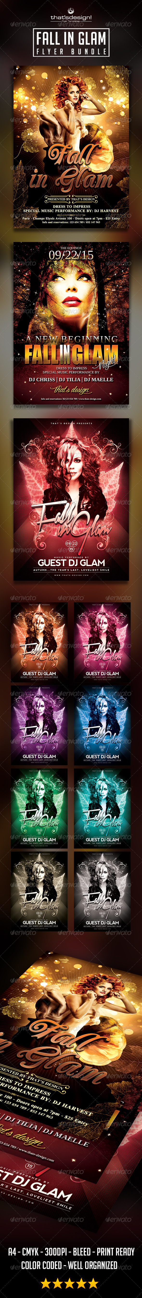 GraphicRiver Fall in Glam Flyer Bundle 8695557