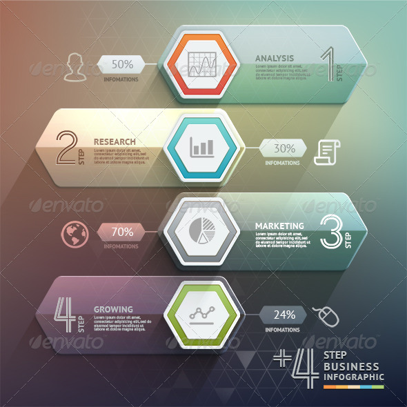 GraphicRiver Business Arrow Step Infographics Template 8695561