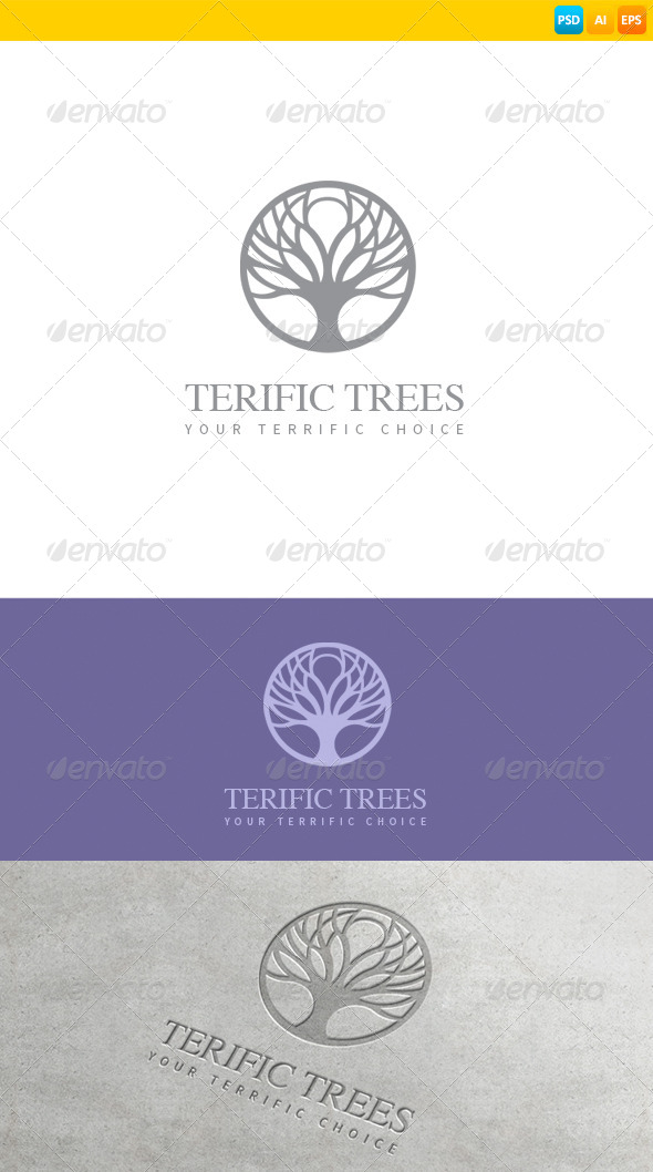 GraphicRiver Tree Logo 8695663