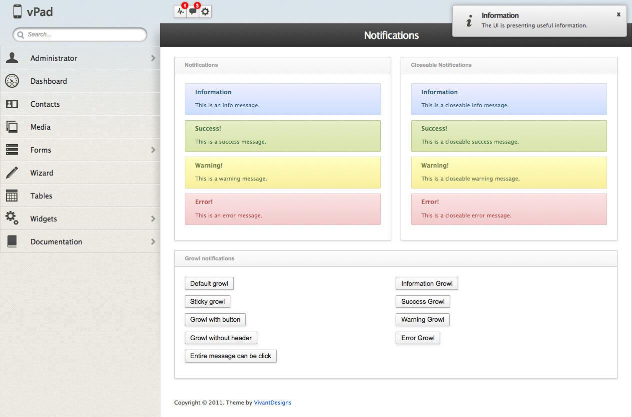 vPad - HTML5+CSS3 App Framework