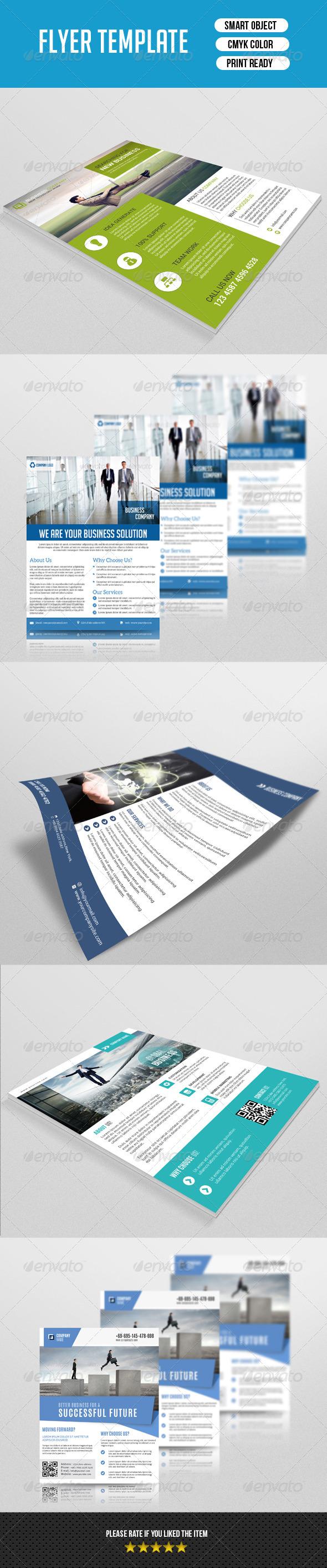 GraphicRiver 5 Corporate Flyer Bundle-V01 8696041