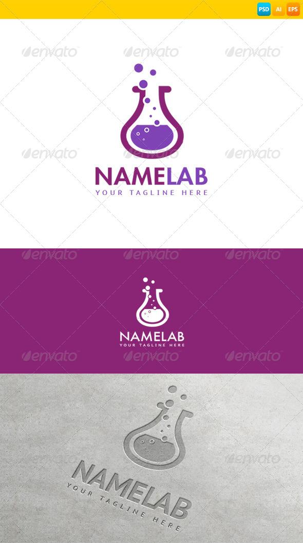 GraphicRiver Lab Logo 8603699