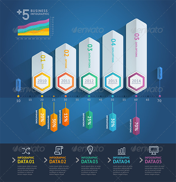 GraphicRiver Business Arrow Infographics Template 8696194