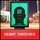 Urban Poster / Billboard Mock-ups - Night Edition - GraphicRiver Item for Sale