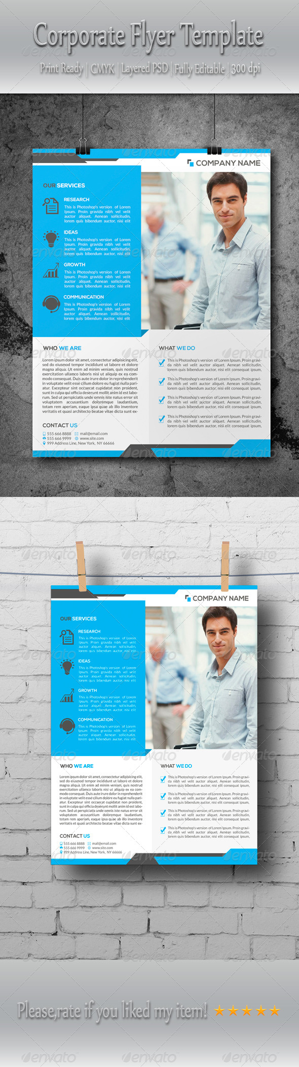 GraphicRiver Multipurpose Corporate Business Flyer Template 8696237