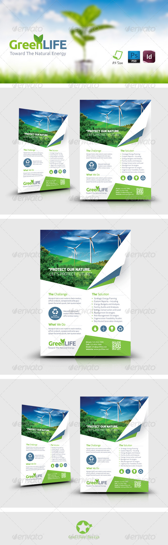 GraphicRiver Green Energy Flyer Templates 8696344