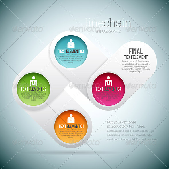 GraphicRiver Line Chain Infographic 8696486