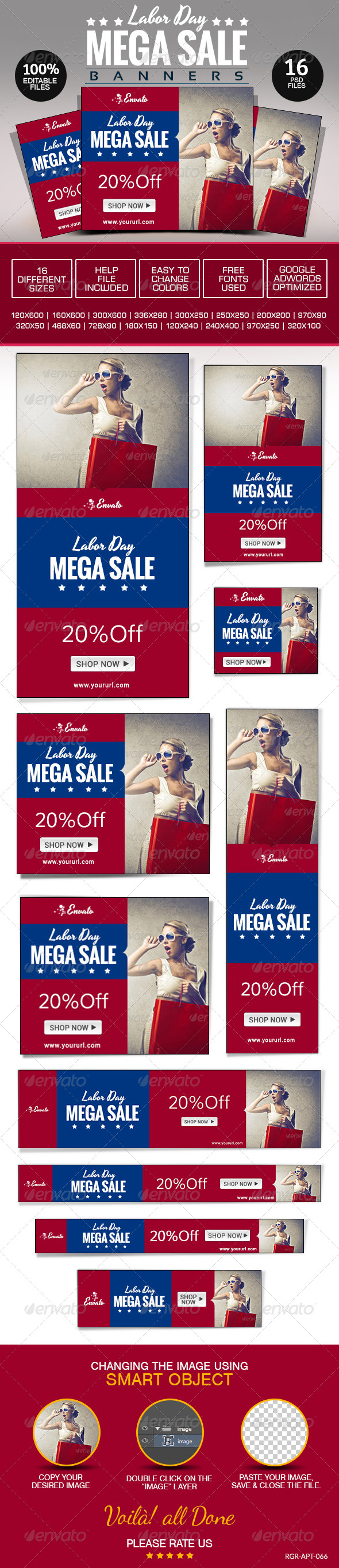 GraphicRiver Labor Day Banners 8696495