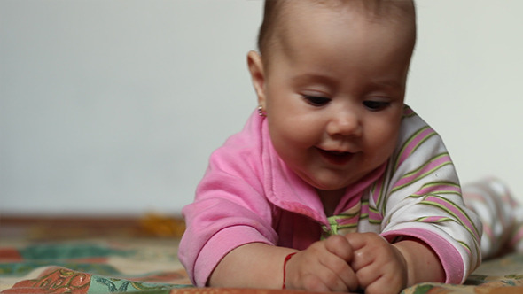 Baby Plays with Fingers