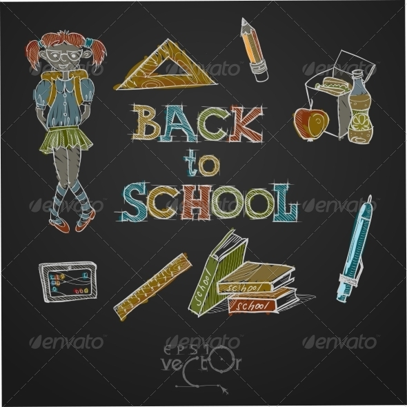 GraphicRiver Back To School Background 8696530