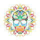 Skull and Sun Flower - GraphicRiver Item for Sale
