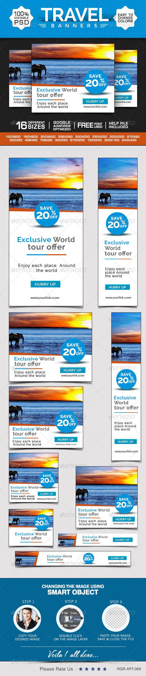 GraphicRiver Travel & Tourism Banners 8696579