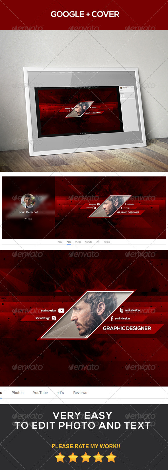 GraphicRiver Modern Google Plus Template 8696580