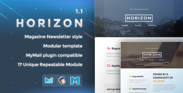 Horizon - Responsive Email Template - Newsletters Email Templates
