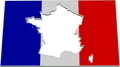 France Inverse Flag Map 3D v2 - PhotoDune Item for Sale