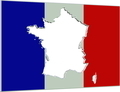 France Inverse Flag Map 3D v3 - PhotoDune Item for Sale