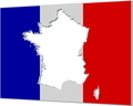 France Inverse Flag Map 3D v4 - PhotoDune Item for Sale
