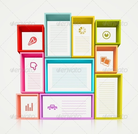 GraphicRiver Colorful Shelves 8696713