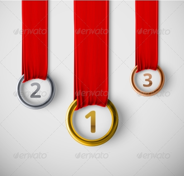 GraphicRiver Three Medals 8696718