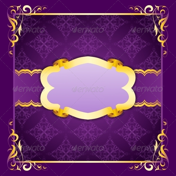 GraphicRiver Elegant Frame with Ribbons on Seamless Ornament 8696766