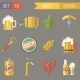 Retro Beer Alcohol Symbols  Vector Illustration - GraphicRiver Item for Sale