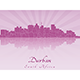 Durban Skyline in Radiant Orchid - GraphicRiver Item for Sale