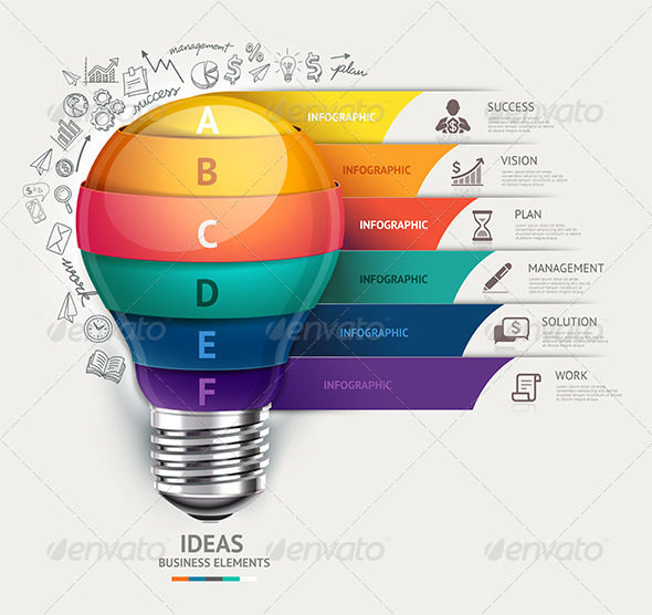 GraphicRiver Business Lightbulb Infographics Template 8696973