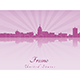 Fresno Skyline in Radiant Orchid - GraphicRiver Item for Sale