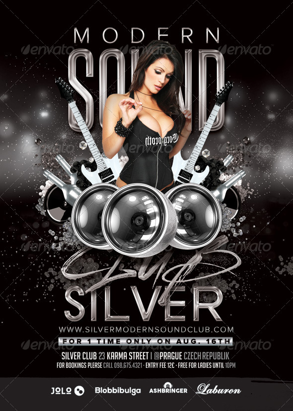GraphicRiver Silver Club Modern Sound Night Party 8696984