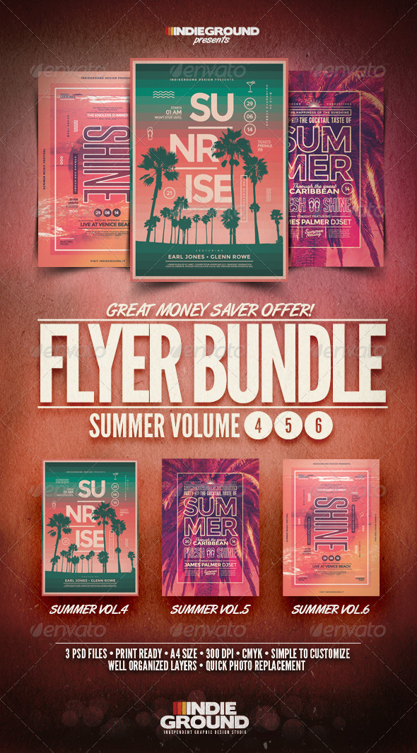 GraphicRiver Summer Flyer Poster Bundle Vol 4-6 8696998