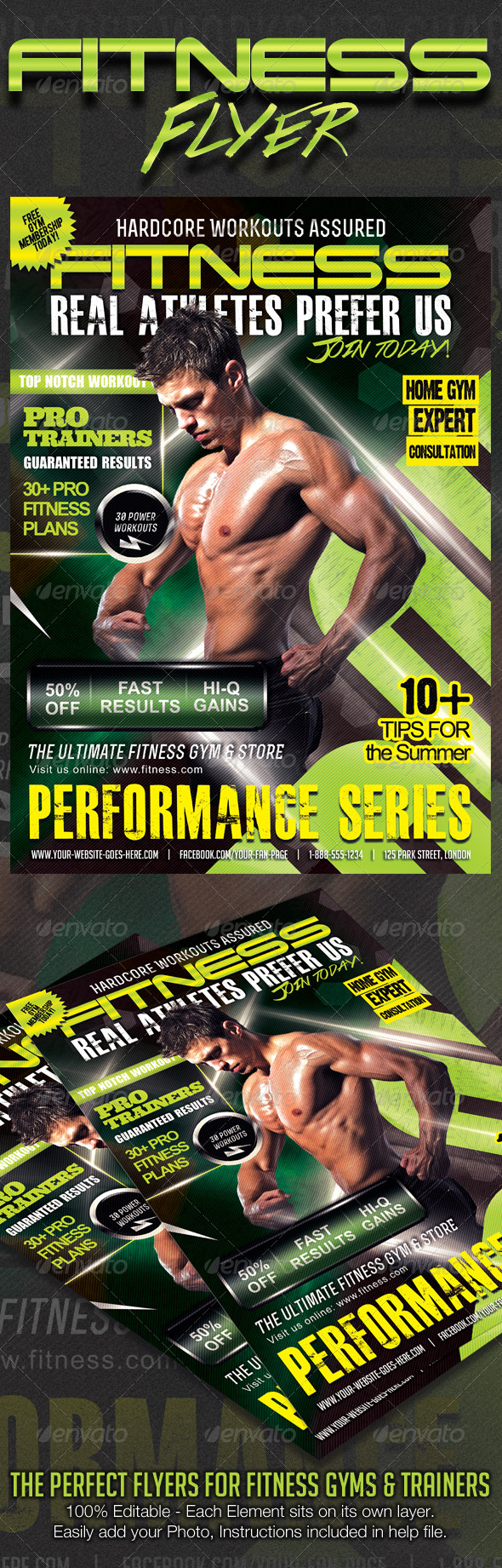 GraphicRiver Ultimate Performance Fitness Flyer 8697102