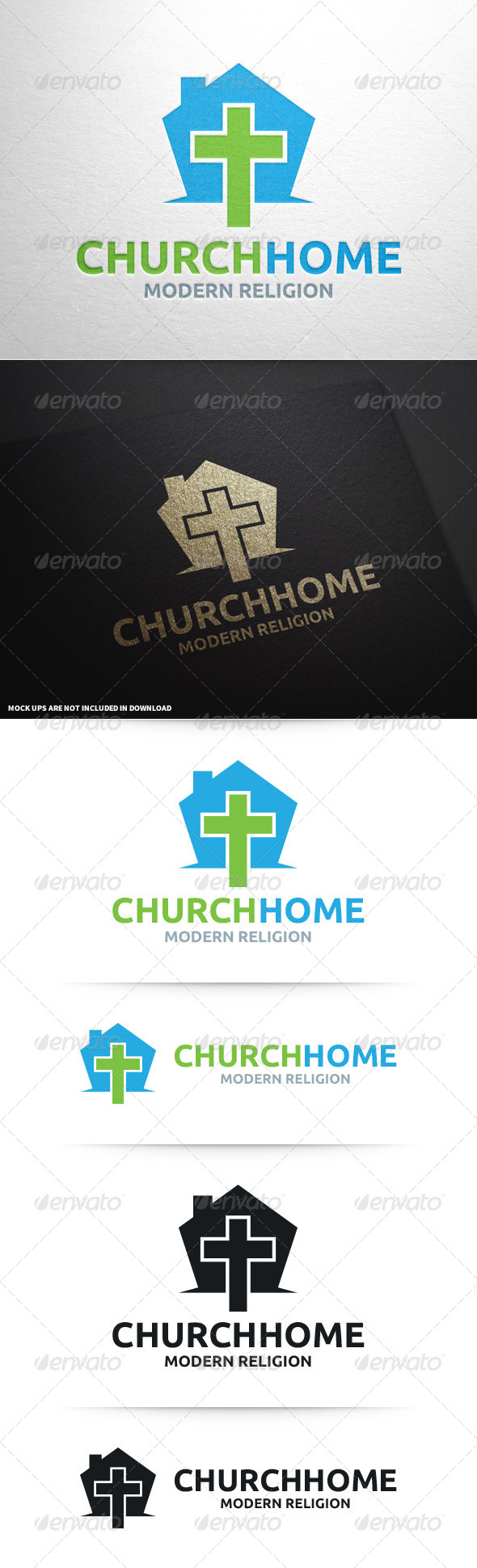 GraphicRiver Church Home Logo Template 8697117