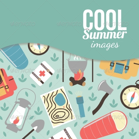 GraphicRiver Summertime Vacations and Traveling Background 8697132
