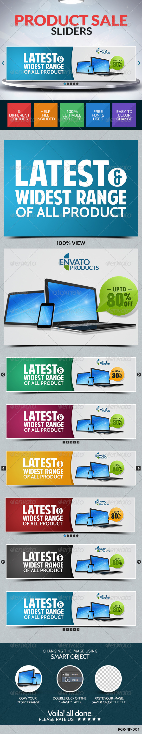 GraphicRiver Product Sale Sliders 8697247