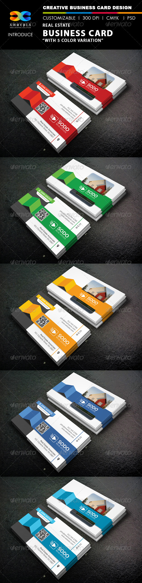 GraphicRiver Real Estate Business Card 8697330