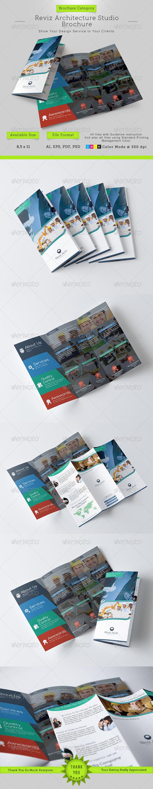GraphicRiver Reviz Architecture Studio Trifold Brochure 8697340