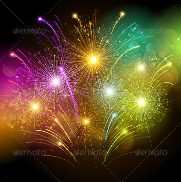 GraphicRiver Colorful Fireworks 8644330
