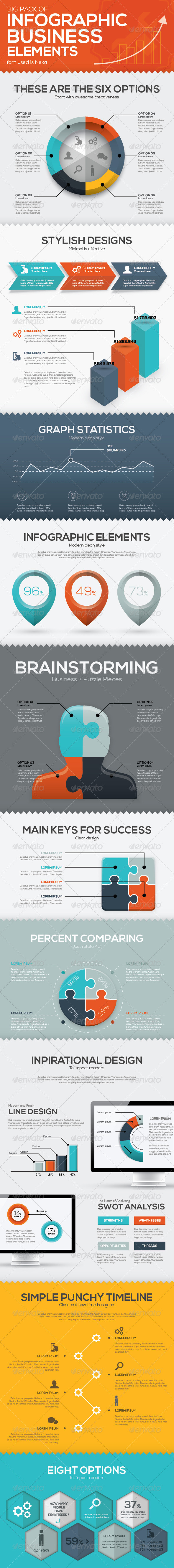 GraphicRiver Infographic Business Vector Elements 8658183