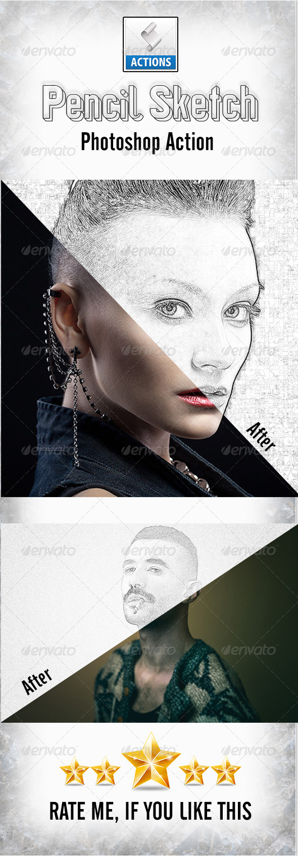 GraphicRiver Pencil Sketch Photoshop Action 8701256